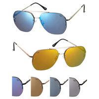 NICHE SUNGLASSES Retro Sunglasses for Men Vintage Metal Frame UV400 Mirror Lens