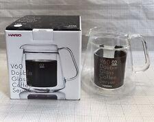 HARIO V60 Double Heatproof Glass Coffee Server 500ml VWS-50