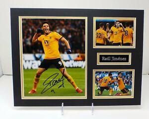 Raul JIMINEZ Signed Mounted Photo Display AFTAL RD COA Wolves Football