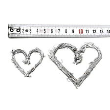12 kleine Reben-Herzen geweißt, dünn, offen 5cm/7,5cm !!!