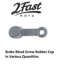 Brake Caliper Bleed Screw Black Rubber Cap Cover Grease Universal Victory Buell