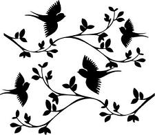 Swallow Birds on Branches   vinyl wall  decal