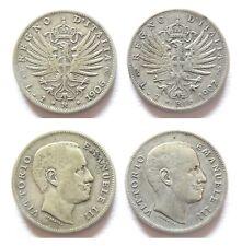 Vittorio Emanuele III - 1 lira aquila sabauda 1906-1907 - Argento