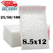 1 50pcs 85x12 White Self Seal Poly Padded Bubble Mailers Envelopes