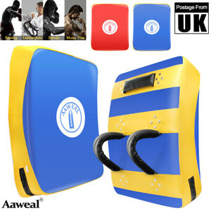 Large Boxing Kick Shield Focus Pad MMA Punching Training Curved Strike Gym UK