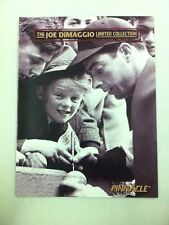 1993 Pinnacle The Joe DiMaggio Limited Collection Product Promotional Pamphlet