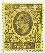 Great Britain Stamp 1902-11 3d King Edward VII Scott # 132 MINT OG H