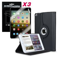 Leather 360 Rotating  Case Smart Cover Stand For Apple iPad All Models With Film