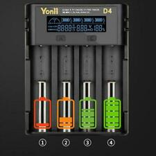 4 Slot Intelligent LCD Charger For 21700 26650 Nimh AAA AA Battery