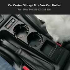 Center Console Coin Tray Box+ Car Cup Holder For BMW E46 3 Series 98-2004 Black