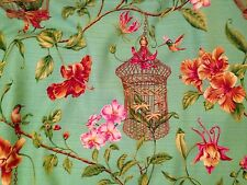3.4m Designer Thibaut  Kauia Curtain Fabric Bird Cage Quality Union Linen