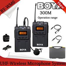 BOYA BY-WM6 Pro UHF Wireless Condenser Microphone System Infrared fr ENG/EFP Cam