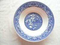 WILLOW WARE by ROYAL CHINA BLUE & WHITE 9-1/8 INCH ROUND SERVING BOWL