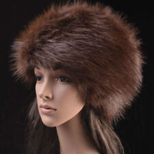 Posh Luxury Ladies Top Quality Faux Fur Glam Brown Hat guess Christmas present x