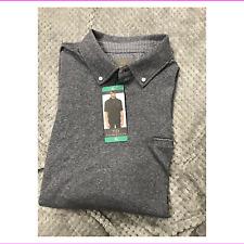 Thomas Dean Men's Short Sleeve Polo Shirt Grey XL