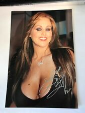 JULIA ANN SIGNED 8X12 original PHOTO - SEXY BABE #4