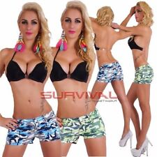 Camouflage Low Rise Shorts for Women