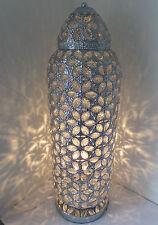 """Chrome X-Tall Lampada mozzafiato stile marocchino Jeweled taglio lavoro Fiore """"Nuovo"""""""