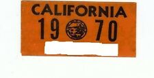 1970 California License Plate Validation Sticker, Excellent Original Condition