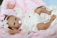 """""""MY SNOW ANGEL""""- Adorable 17 """" Collectors Life Like Baby Girl Doll + 2 Outfits"""