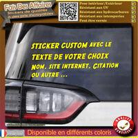 sticker autocollant custom texte de votre choix déco auto maison porte vitrine