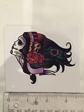 Woman Day Of The Dead Skull Decal Sticker