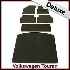 VW Touran Mk2 2010-2015 Totalmente a Medida De Lujo 1300g Alfombra Coche Alfombrillas De Arranque & Negro