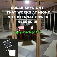 SOLAR SKYLIGHT FOR DAY AND NIGHT USE 15W SQUARE 300 MM 6.4 AH LITHIUM BATTERY