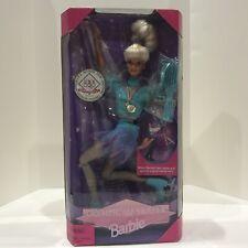 1997 Mattel Olympic Skater USA Barbie Doll New in Box #18501 ICE SKATER