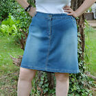 Jupe droite sexy Femme taille 54 bleu demin jean extensible Carla ZAZA2CATS new