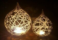 CANDLE HOLDERS, SET OF 2, WHITE, OVER $100 IN SHOPS, NEW, POSTAGE AVAIL
