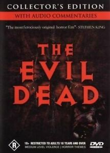 The Evil Dead DVD : Collectors Edition with Booklet (Pal, 2004) Free Post