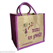 """Mums are Great"" Jute Shopper from These Bags Are Great"