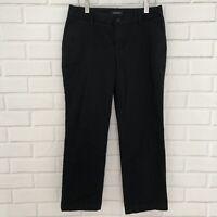 Lands' End Misses Size 5 Black Cropped Capri Pants Career