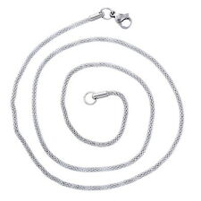 New: 1 Unisex Edelstahl Halskette Kette Halsschmuck Modeschmuck Silberfarbe 52cm