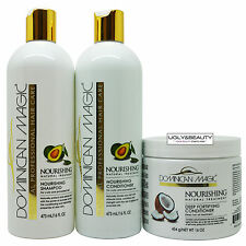 Dominican Magic Nourishing Shampoo & Conditioner + Deep Fortifying Conditioner