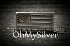 Lot of 10 x 1 Gram Silver USA FLAG Bar .999 Fine (CMC)