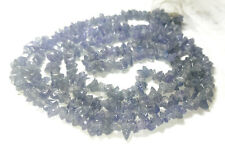 "33"" AAA TANZANITE gem stone chobochaon chips beads necklace jewelry blue violet"