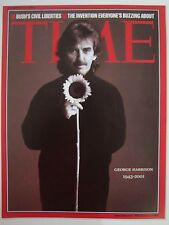 GEORGE HARRISON 1943 2001 TIME MAGAZINE COVER PAGE PHOTO ON 4 X 6 GLOSSY PAPER