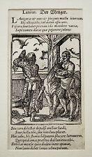 Metzger Fleischhauer Schlachter Wurst Fleisch alter  Holzschnitt von Amman 1568