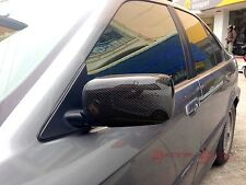 REAL GLOSSY CARBON FIBER SIDE MIRROR COVER CAP FOR 92-99 BMW 3-SERIES E36 SEDAN