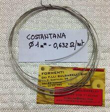 FILO COSTANTANA - 1mm - 0,632 ohm/mt (3mt)