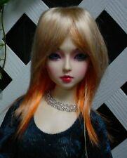 """Doll Wig, Monique Gold """"Jojo"""" Size 7/8 Golden Blonde w Orange"""