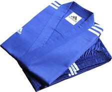 Adidas Champion 3-stripe Blue Open Dobok Uniform/TaeKwonDo/Size2(160cm),4(180cm)