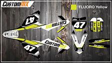 KTM SX50 kit de gráficos SX65 con números de encargo Etc-SX 50 65 2002-2019 Fluoro
