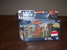 STAR WARS - STAP WITH BATTLE DROID - FIRING MISSLES - WITH GALCATIC BATTLE GAME