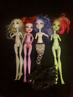 Lot of 4 Monster High Dolls For Parts OOAK Missing Arms