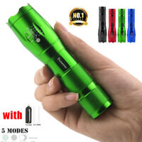 50000LM Mini Tactical LED Flashlight 18650 Super bright  Torch Zoomable 5-Mode