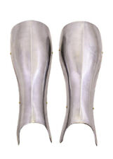 Knights greaves (pair), steel, Medieval Leg Armour LARP Reenactment Battle-Ready