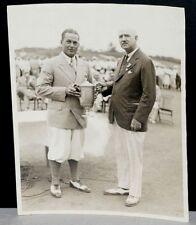 1930 Bobby Jones, Receiving U.S. Open Trophy, Grand Slam Season, Orig Photo 8x10